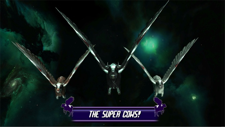 Flying Cow Rescue Galaxy Game : The Super Cow Flying Simulator Game of 2016 screenshot-3