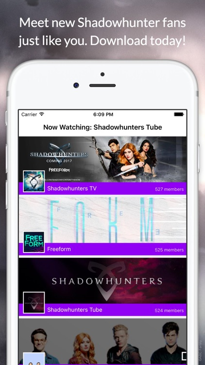 Fan Club for Shadowhunters - Live Chat & Videos screenshot-3