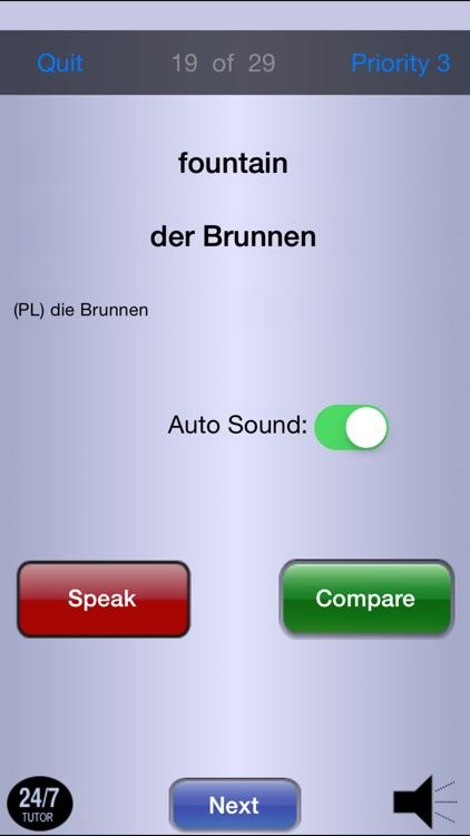 German Vocabulary 24/7 Language Learning screenshot-4