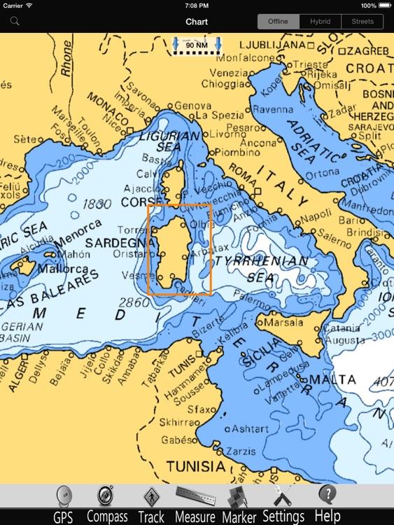 Sardinia Nautical Charts Pro screenshot-4