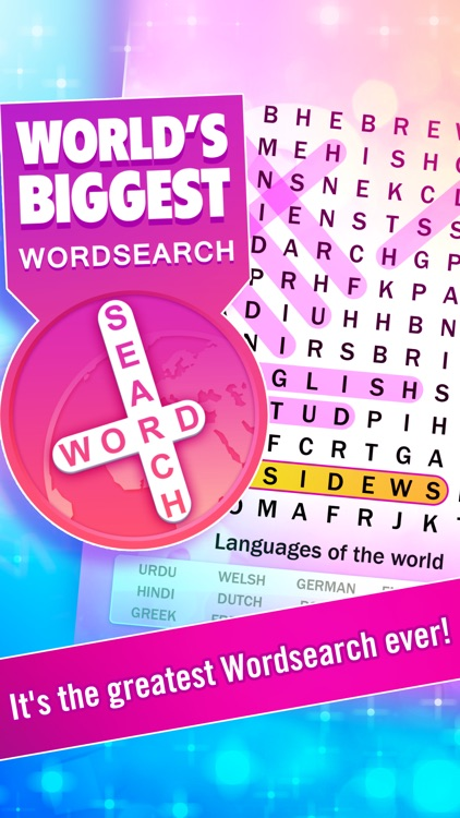 Word Search : World's Biggest Wordsearch Puzzle!