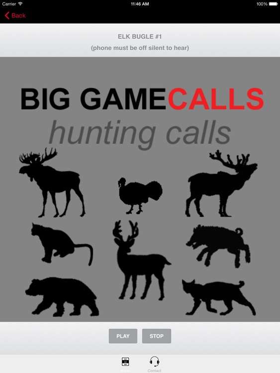 Big Game Hunting Calls SAMPLER - The Ultimate Hunting Calls App For Whitetail Deer, Elk, Moose, Turkey, Bear, Mountain Lions, Bobcats & Wild Boar screenshot-3