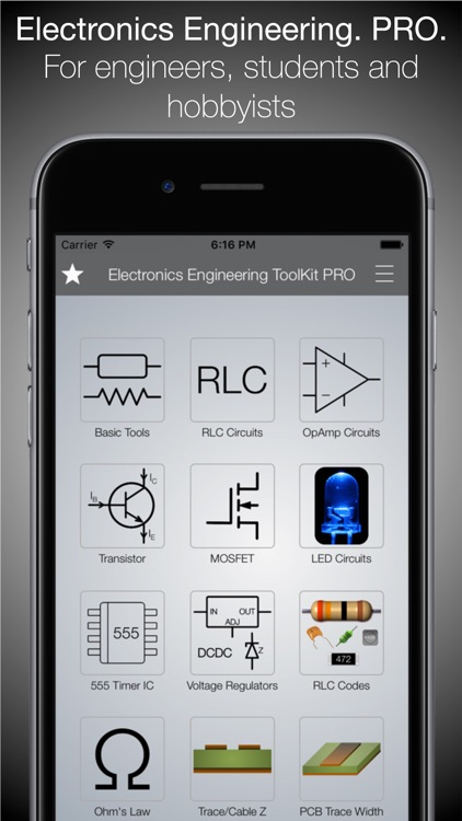 Electronics Engineering ToolKit PRO for iPhone