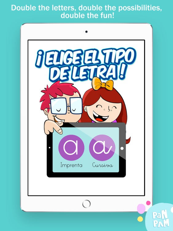Learn to read and write the vowels in Spanish - Preschool learning games screenshot-0
