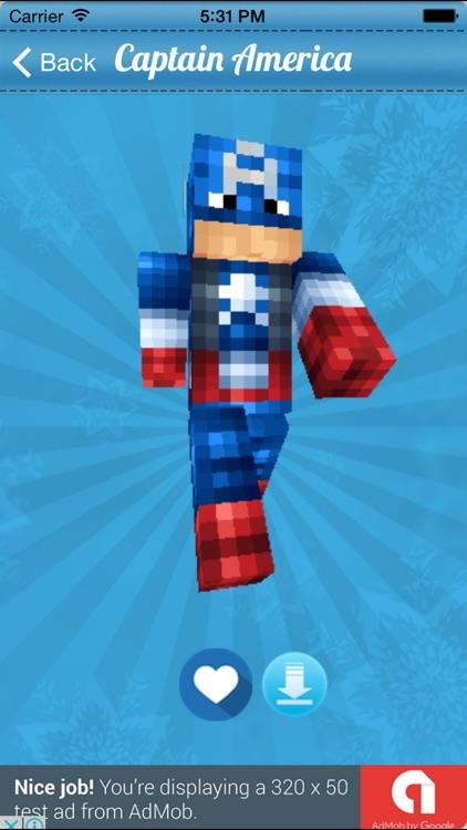 Superhero Skins for Minecraft PE Free screenshot-3