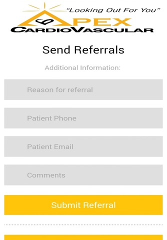 APEX Cardiovascular Referrals screenshot 2