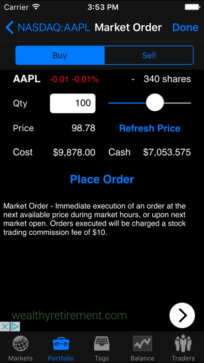Stock Wars - Virtual Investing screenshot-2