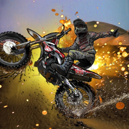 A Motocross Risk - A Crazy Motocross Game In The Desert