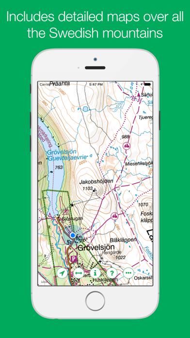 Swedish Mountain Maps screenshot one