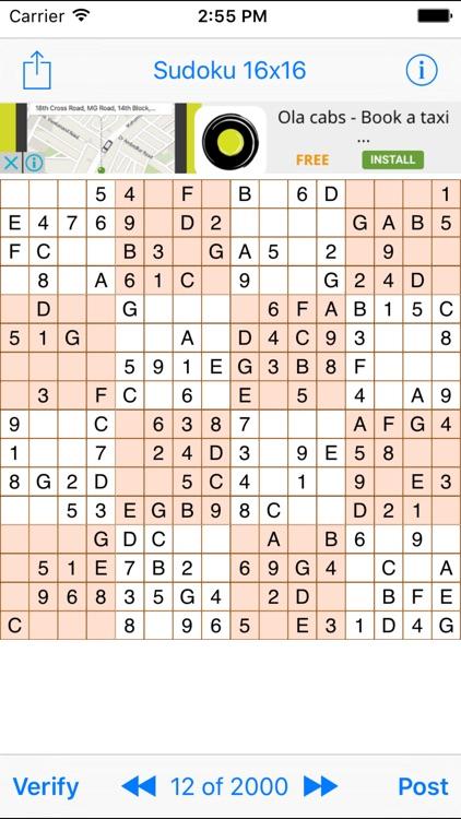 Sudoku 16x16 Game by ABCOM