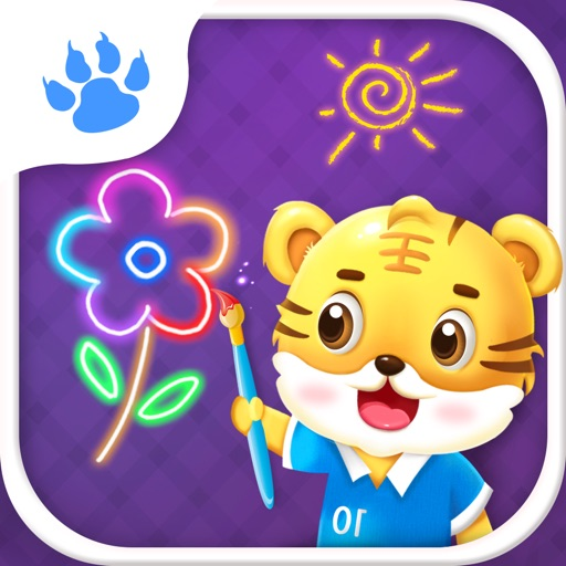 Baby Doodle - Tiger School - Draw Color Sketch For Kids