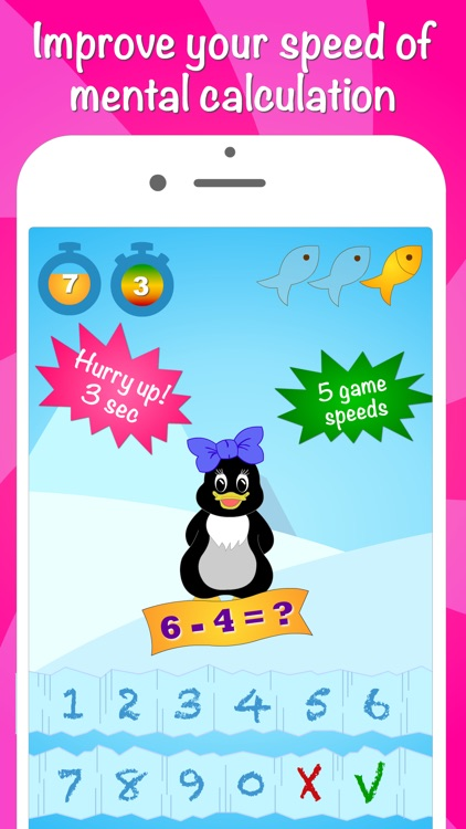 Icy Math - Addition and Subtraction game for kids screenshot-3