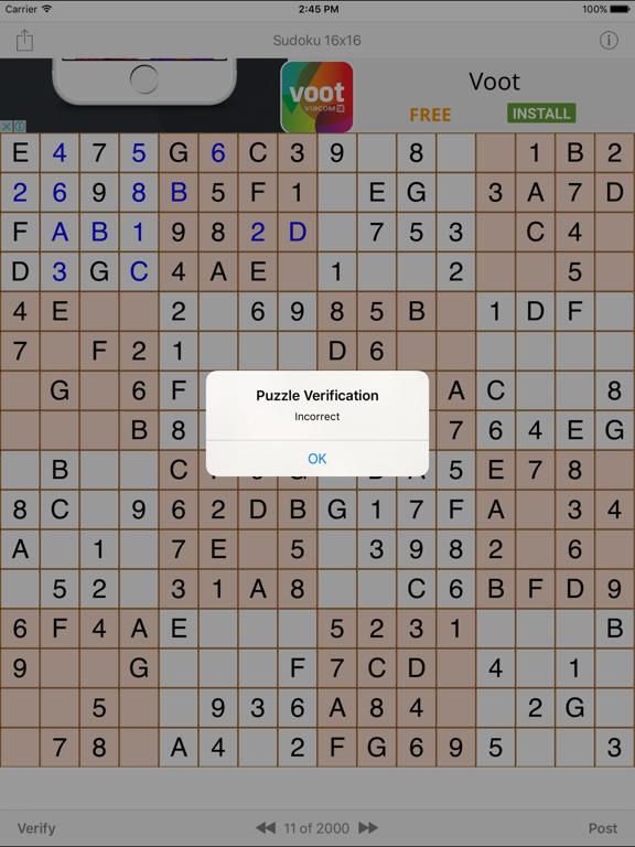 Sudoku 16x16 Game | App Price Drops