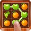 Link Smash Fruits Frenzy : Flowline of Spirit Jungle.Swipe Drawpipe Bump Puzzle