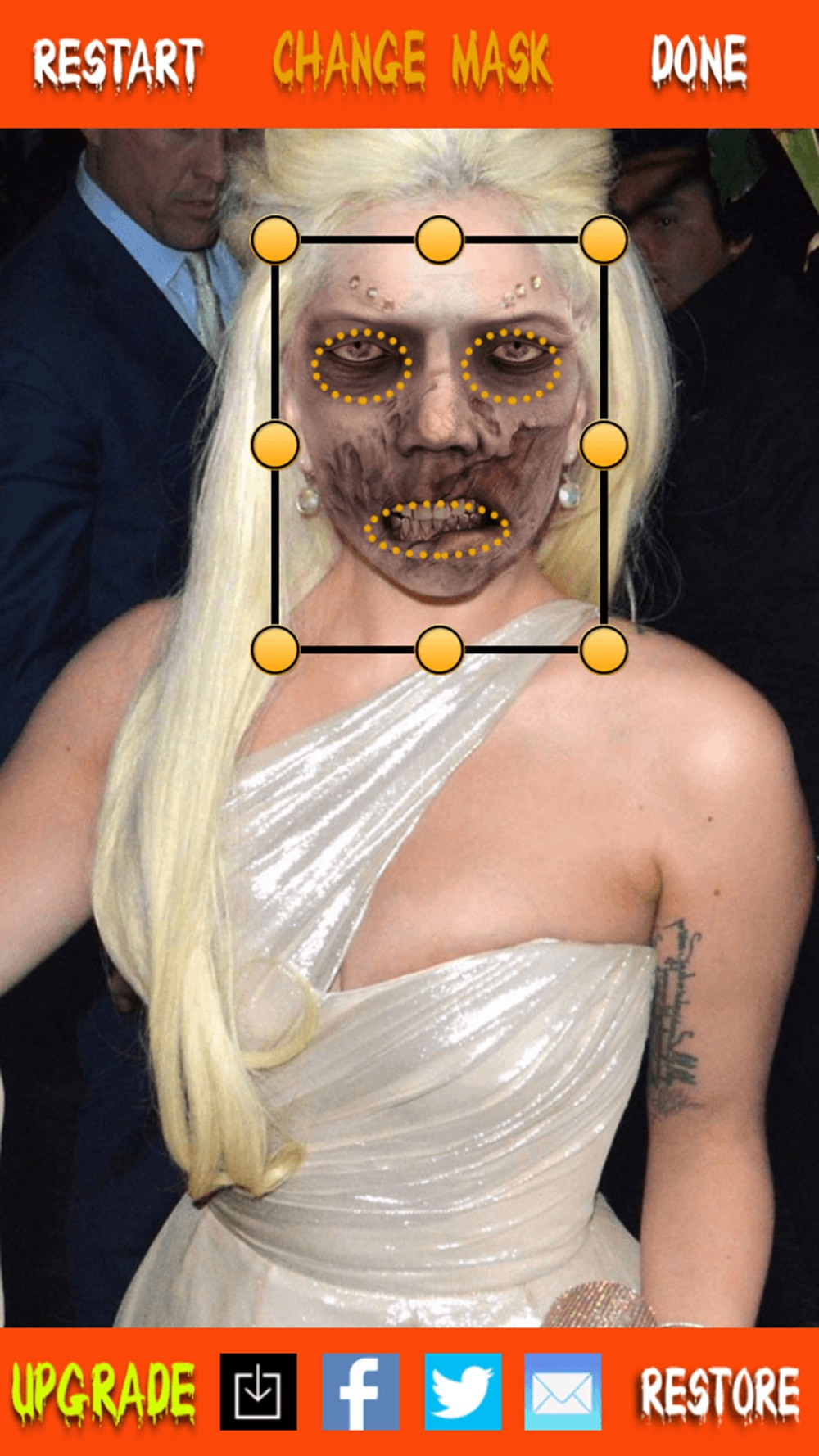 Freak Makeover for Halloween season from foto booth