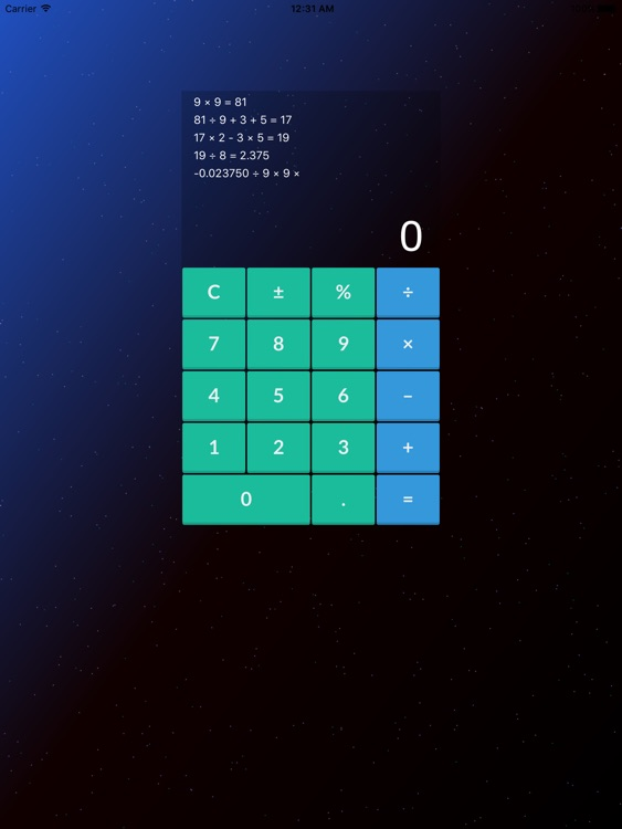 Mini Calculator for iPad - Pro