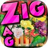 Alisha Sandy - Words Zigzag Flower in The Garden Crossword Puzzle artwork