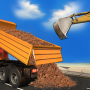 Real City Crane excavator operator simulator : Enjoy Dump truck, Drive Heavy Construction Material & Transport vehicle