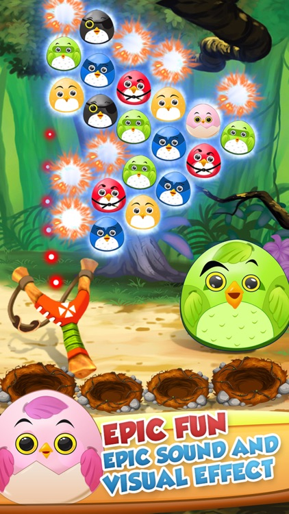 Pop The Birdy - Bubble Shooter Cross Finger Puzzles by Saqib