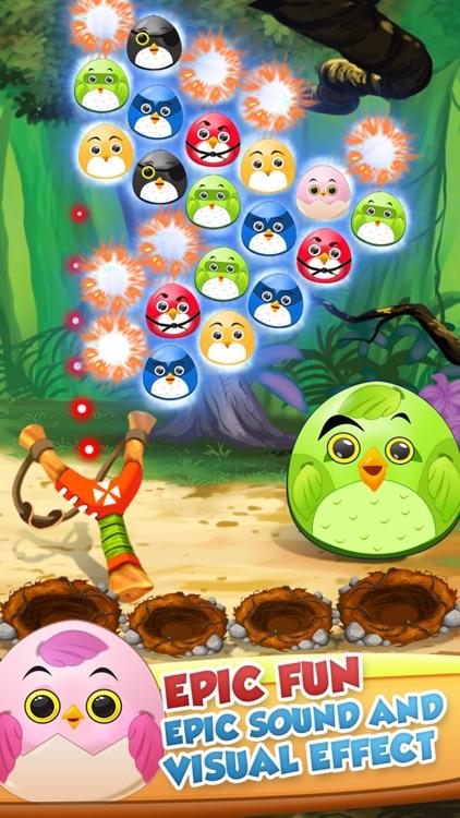 Pop The Birdy - Bubble Shooter Cross Finger Puzzles screenshot-4