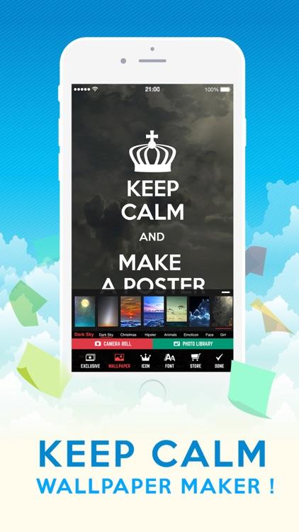 Insta Keep Calm Wallpaper Maker Create Your Own Keep Calm