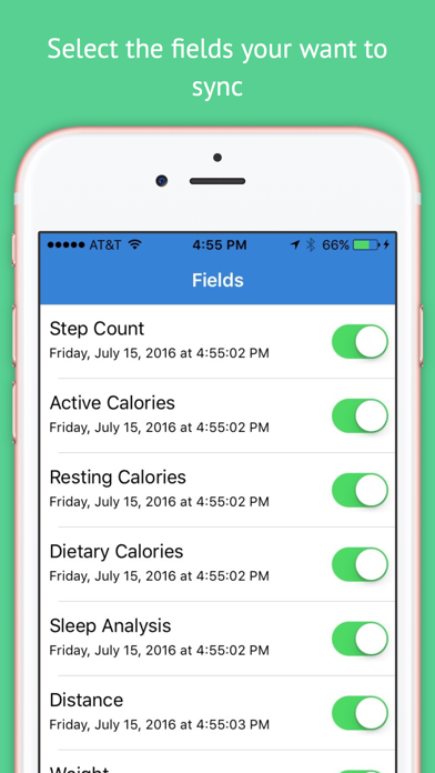 Fitbit to Apple Health Sync app image