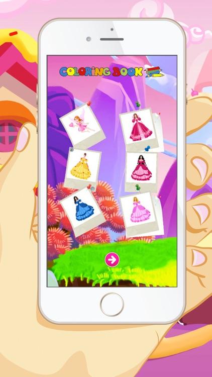 Princess Coloring Book - Educational Coloring Games For kids and Toddlers screenshot-3
