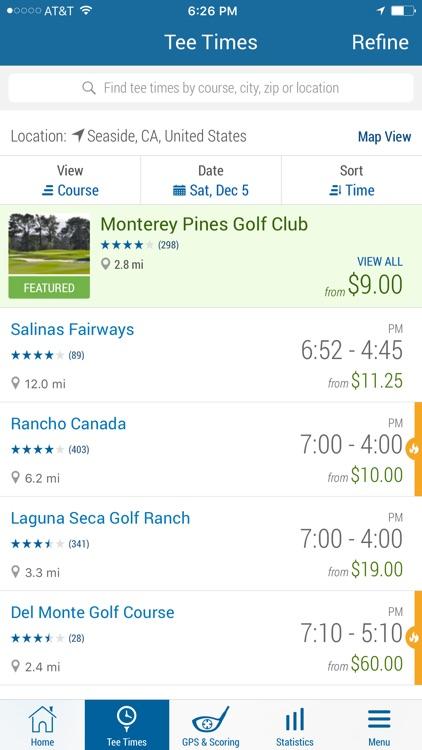 GolfNow – Book Tee Times, Golf GPS, Scorecard