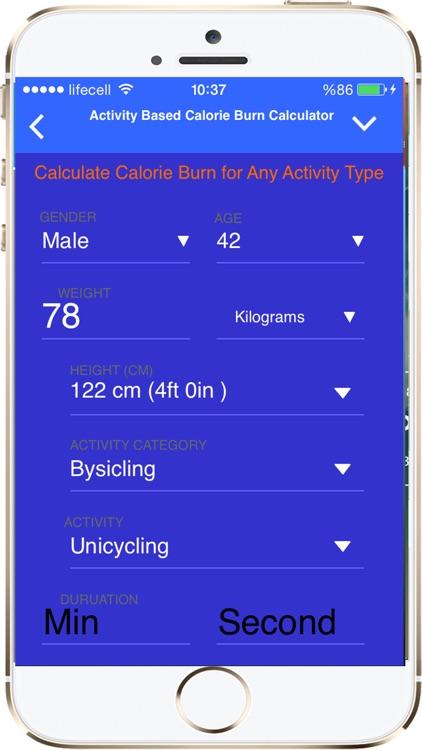 Fitness and Exercise Calculators screenshot-3