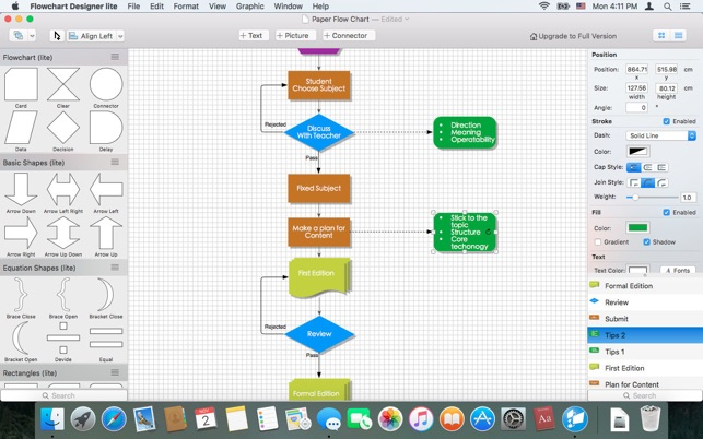 643x0w flowchart designer lite on the mac app store