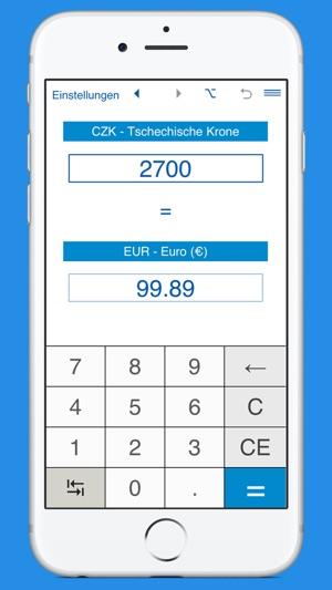 euro in tschechische krone w hrungsrechner im app store. Black Bedroom Furniture Sets. Home Design Ideas