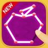 一筆書きゲーム!無料パズルで脳トレしよう! by だーぱん iPhone