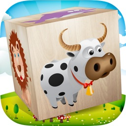 Animals 3D Puzzle for Kids - best wooden blocks fun educational game for young children