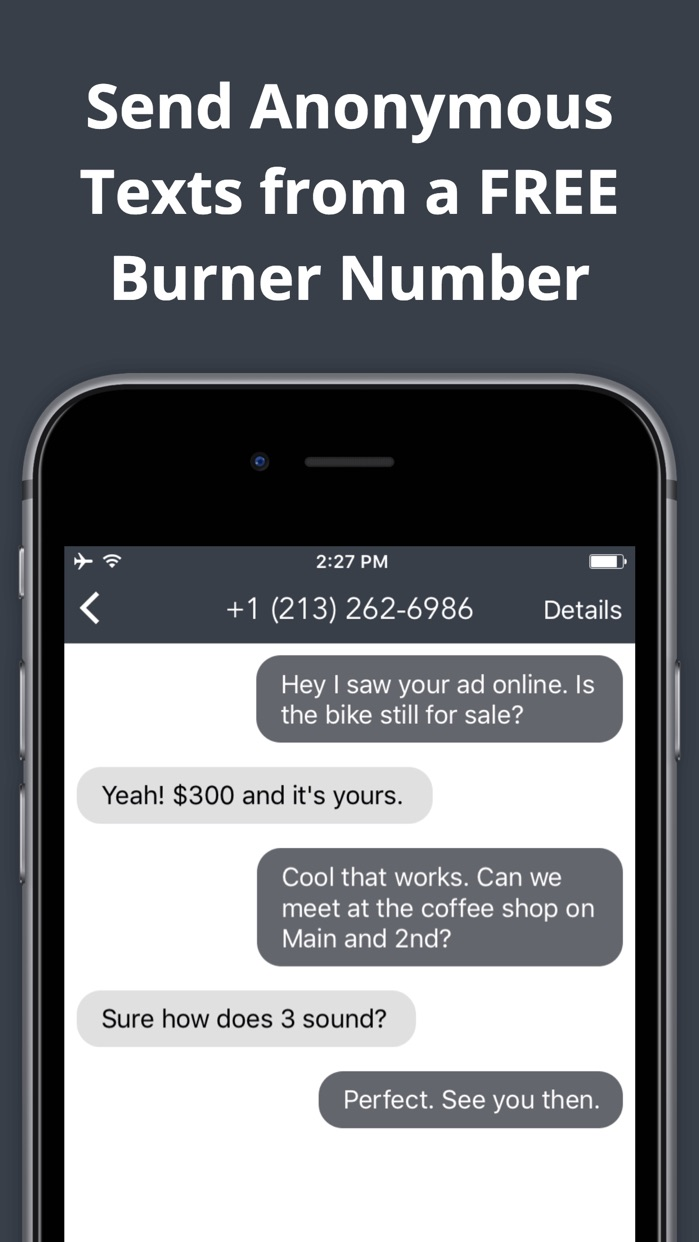 Anonymous Texting & Free Private Burner Number App Screenshot