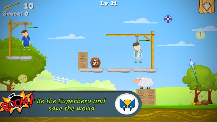 Cut the Gibbet Rope : Angry Archer Hero screenshot-3