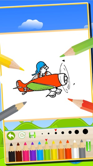 Vehicles Airplanes Trains Coloring Book Kids Easy Paint Fun