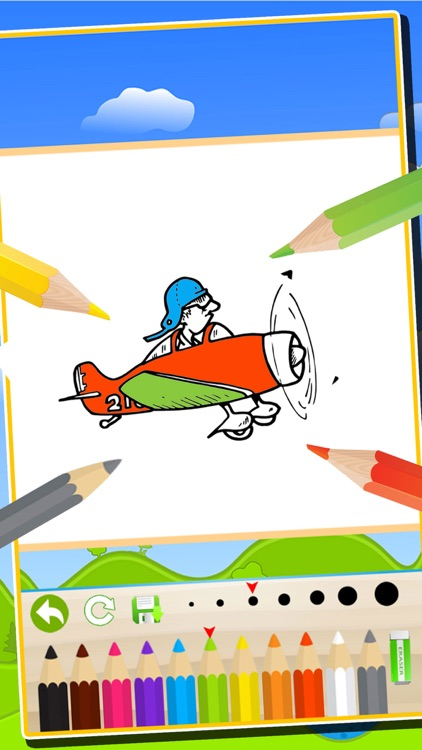 vehicles airplanes trains coloring book kids easy paint fun drawing games screenshot 4
