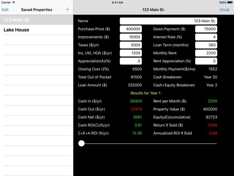 Rental ROI+ for iPad
