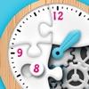 時計くみたてパズル 有料版 - 楽しく学ぶ!時計の読み方