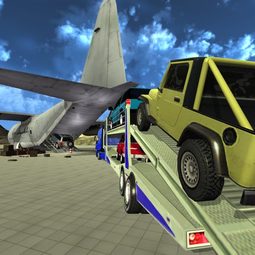 Offroad Jeep: Airplane Cargo