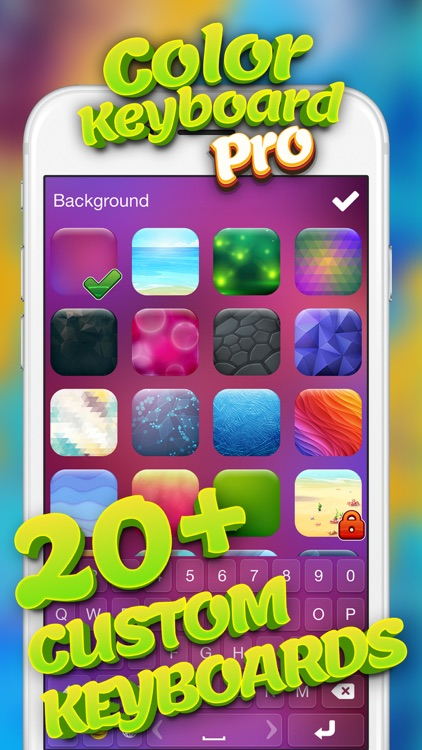 Color Keyboard Pro – Free Text Fonts and Emoticons with Custom Background Theme.s screenshot-3