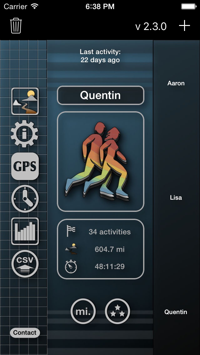 MoveUpBase - A sport GPS day book