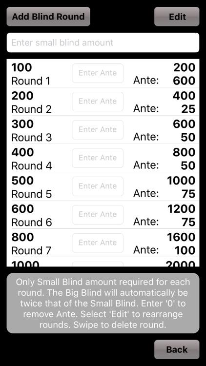 Poker Blinds Timer screenshot-4