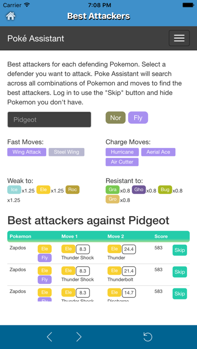 Poke Assistant for Pokemon Go - CP & IV Calculator,Best attacker,Evolver App-1