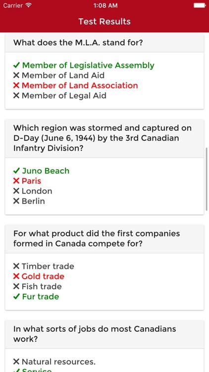 Canadian Citizenship Test 2017 Practice Questions screenshot-4