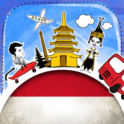 Indonesian Phrasi - Free Offline Phrasebook with Flashcards, Street Art and Voice of Native Speaker for Indonesia Travel
