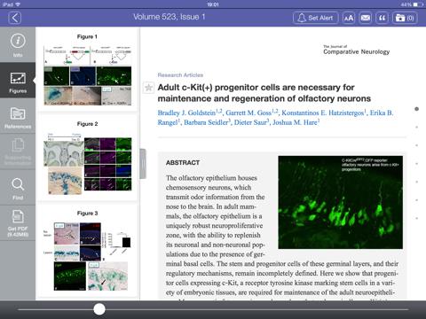 Screenshot of The Journal of Comparative Neurology
