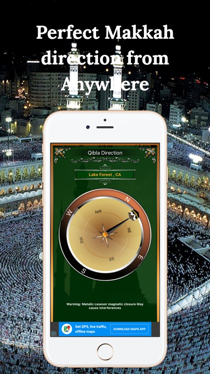 Simple Qibla Compass-Free screenshot-1