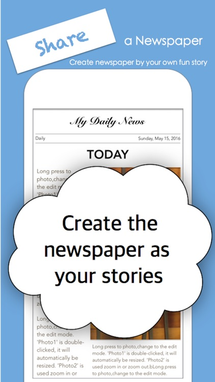 My Newspaper  ( Making a Newspaper ).