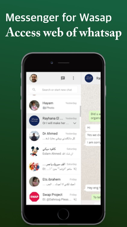 Messenger For Whatsap Web for iPad & iPhone Pro